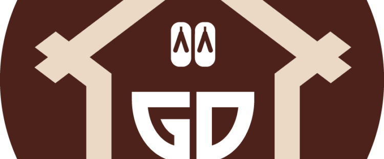 Brown logo of Gojo Paradiso Homes, Kyoto